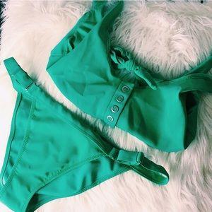 Bright Green Bikini Set